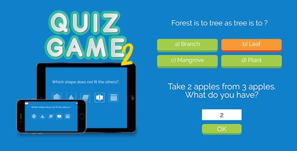 Quiz Game 2 - HTML5 Game