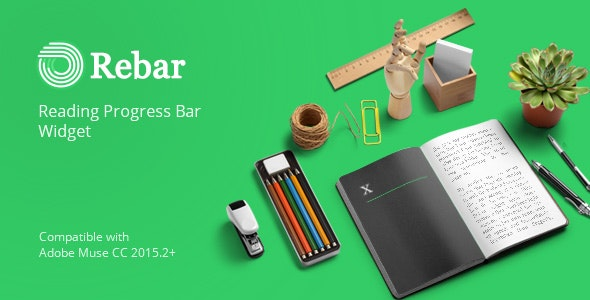 ReBar - Reading Progress Bar Widget for Adobe Muse by