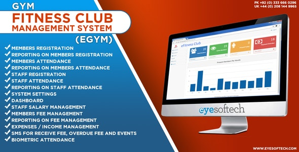 Gym / Fitness Club Management System with SMS and Biometric Integration v1.2 (eGym) - CodeCanyon Item for Sale