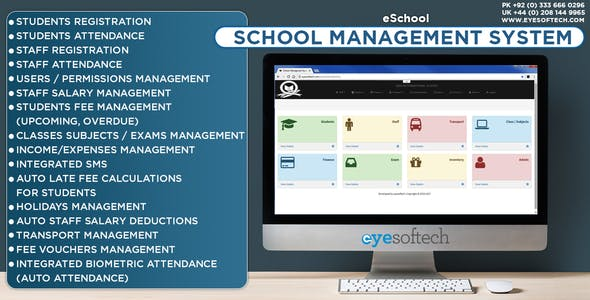 School Management System with SMS and Biometric Integration v1.2 (eSchool)