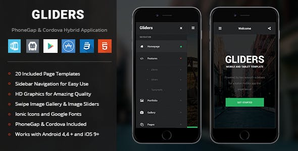 Gliders | PhoneGap & Cordova Mobile App