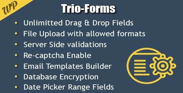 Trio-Forms Custom Forms Builder - CodeCanyon Item for Sale