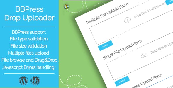 Drop Uploader for BBPress - Drag&Drop File Uploader Addon