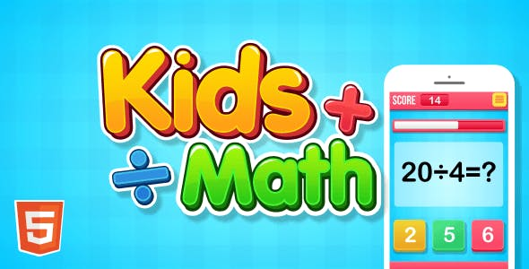 Kids Math - HTML5 Game