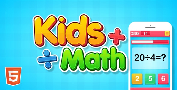 Kids Math - HTML5 Game - CodeCanyon Item for Sale