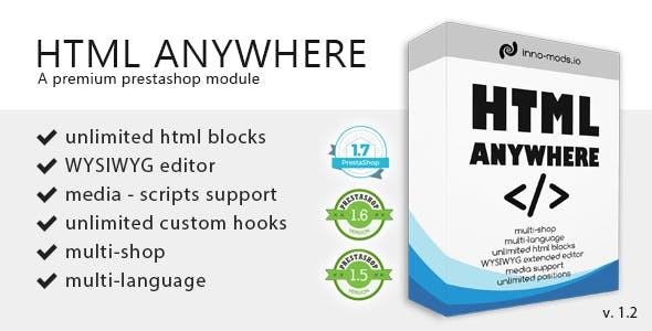 Html Anywhere for Prestashop