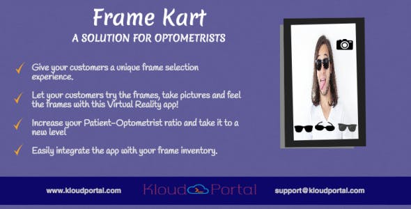 Frame Kart - A Virtual Reality Based iOS App for Optometrists and Ophthalmologists.