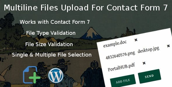 Multiline files upload for contact form 7 Pro