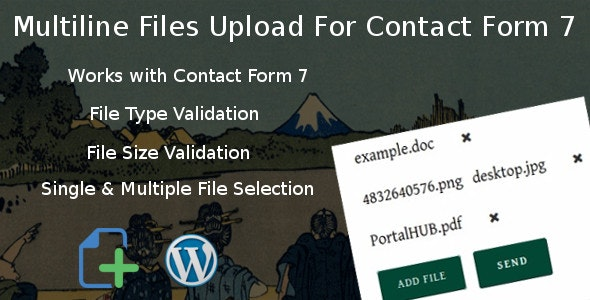 Multiline files upload for contact form 7 Pro - CodeCanyon Item for Sale