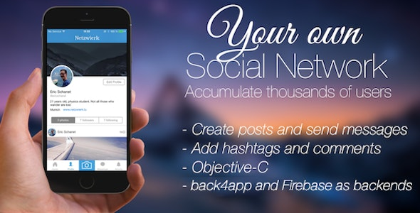 Social Network - Your complete social network app (iOS) - CodeCanyon Item for Sale