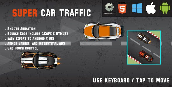 Car Traffic - HTML5 Racing Game - Android & IOS + AdMob (CAPX)