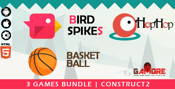 3 in 1 Construct 2 HTML5 Game Bundle - Construct2 CAPX