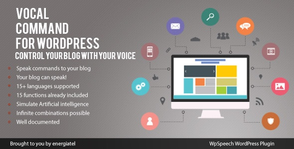 Wp Speech - Vocal Command for WordPress - CodeCanyon Item for Sale