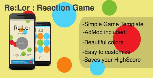 Bubble reaction game (Android + Admob)