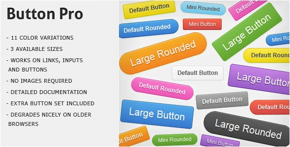 Button Pro - CSS3 Buttons - CodeCanyon Item for Sale