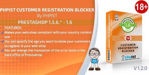 Prestashop PHPIST Customer Registration Blocker