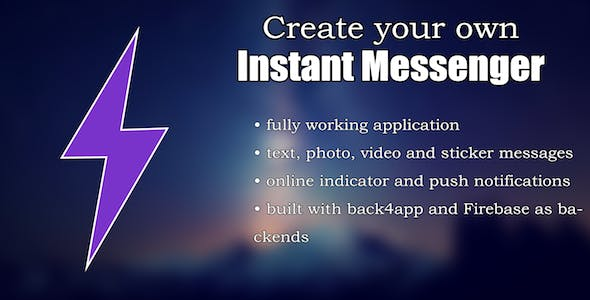 Instant - A Working Messaging App Template (iOS)