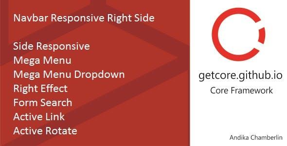 Navbar Responsive Right Side