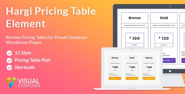 Hargi Pricing Tables – Visual Composer addon