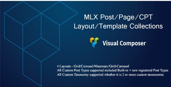 MLX Post/Page/CPT Layout/Template Collections - Visual Composer Add-on