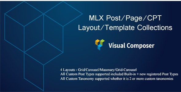 MLX Post/Page/CPT Layout/Template Collections - Visual Composer Add-on - CodeCanyon Item for Sale