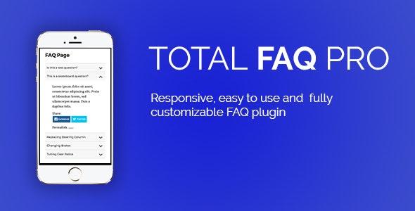 Total FAQ Pro - Premium FAQ Solution - CodeCanyon Item for Sale