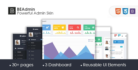 Be admin - Bootstrap Admin Skin - CodeCanyon Item for Sale