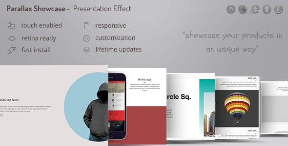 Parallax Showcase Effects - Present your products /w WooCommerce