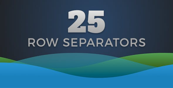 25 Row Separators SVG & CSS3