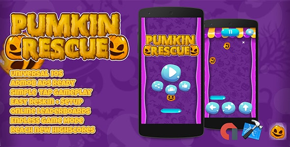 Pumpkin Rescue + IOS XCODE Admob + Multiple Characters - CodeCanyon Item for Sale