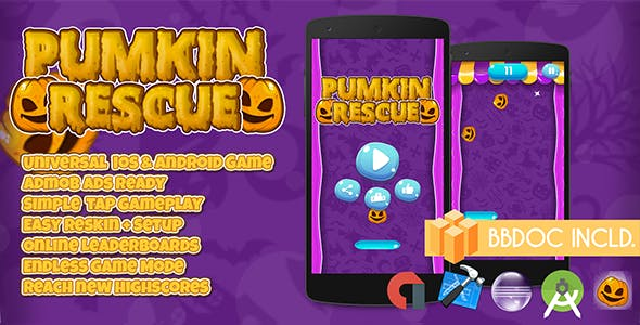 Pumpkin Rescue + Buildbox (BBDOC + Android Studio + Eclipse + Xcode)