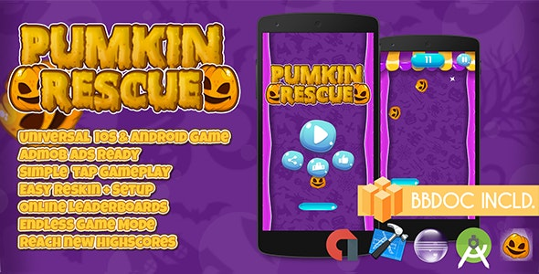 Pumpkin Rescue + Buildbox (BBDOC + Android Studio + Eclipse + Xcode) - CodeCanyon Item for Sale