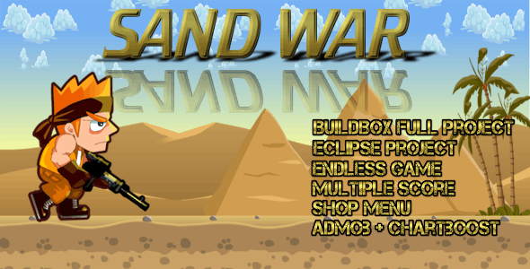 Sand war - Buildbox Game Template + Android Eclipse Project Template