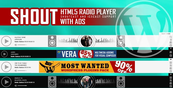 SHOUT - HTML5 Radio Player With Ads - ShoutCast and IceCast Support - WordPress Plugin