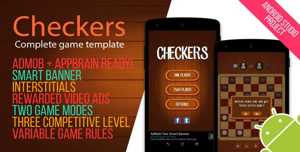 Android Checkers Game with Admob by lipandes | CodeCanyon