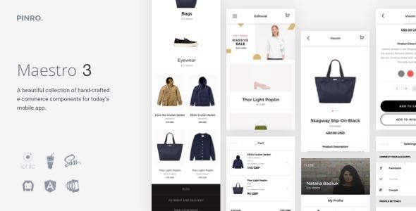 Maestro - Ionic 3 E-Commerce Template