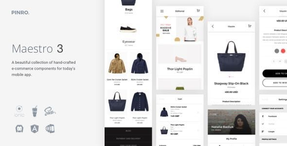 Maestro - Ionic 3 E-Commerce Template - CodeCanyon Item for Sale
