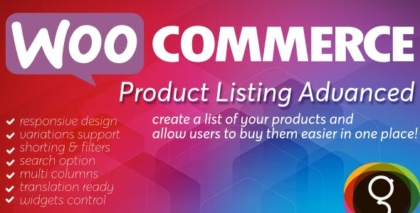WooCommerce Product List Advanced
