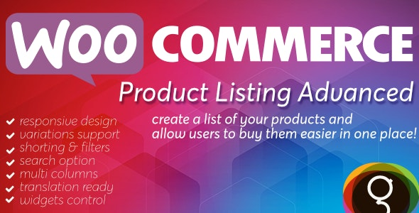 WooCommerce Product List Advanced - CodeCanyon Item for Sale