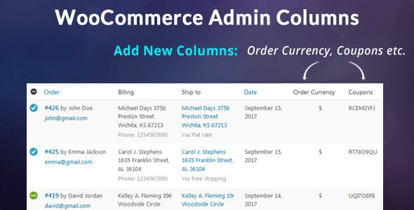 WooCommerce Admin Columns Add-On