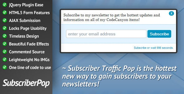 Subscriber Traffic Pop