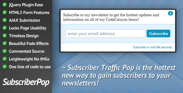 Subscriber Traffic Pop - CodeCanyon Item for Sale