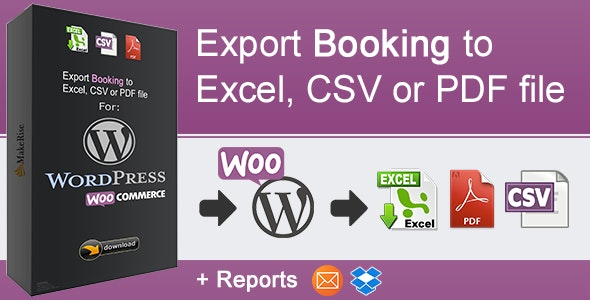 WooCommerce Booking Export - CodeCanyon Item for Sale