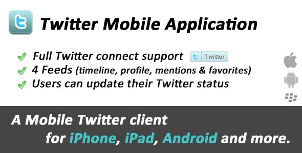 Twitter Mobile Web Application - CodeCanyon Item for Sale