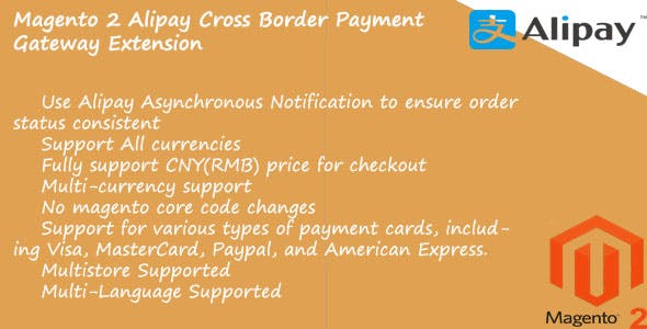 Global Alipay Cross Border Magento 2 extension