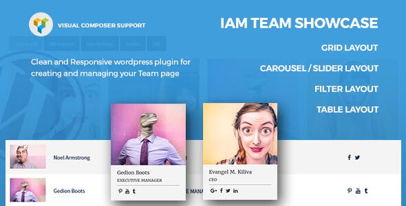 IAM – Responsive Team Showcase WordPress Plugin