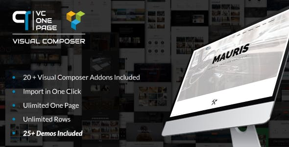 VC One Page Builder - Addons for Visual Composer