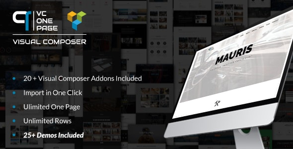 VC One Page Builder - Addons for Visual Composer - CodeCanyon Item for Sale
