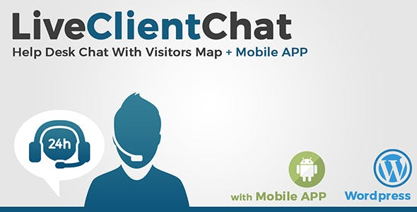 Live Client Chat - Help Desk Chat With Visitors Map & Mobile APP