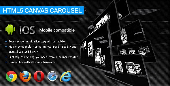 HTML5 Canvas Carousel - CodeCanyon Item for Sale